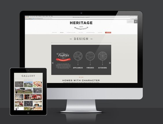 Heritage by Infinity Properties #graphicdesign #vancouver #branding #website #realestate #brandidentity