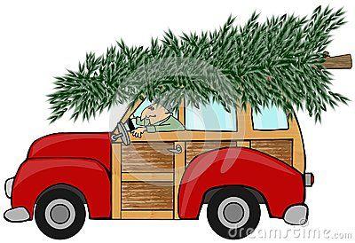 Coche con el árbol de navidad.