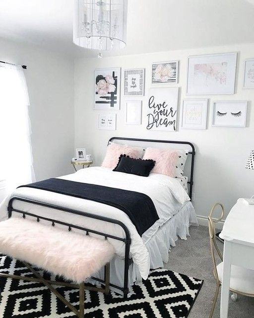37 The Beauty Of Simplicity Black And White Home Design Page 26 Of 37 Small Room Bedroom Bedroom Interior Bedroom Diy