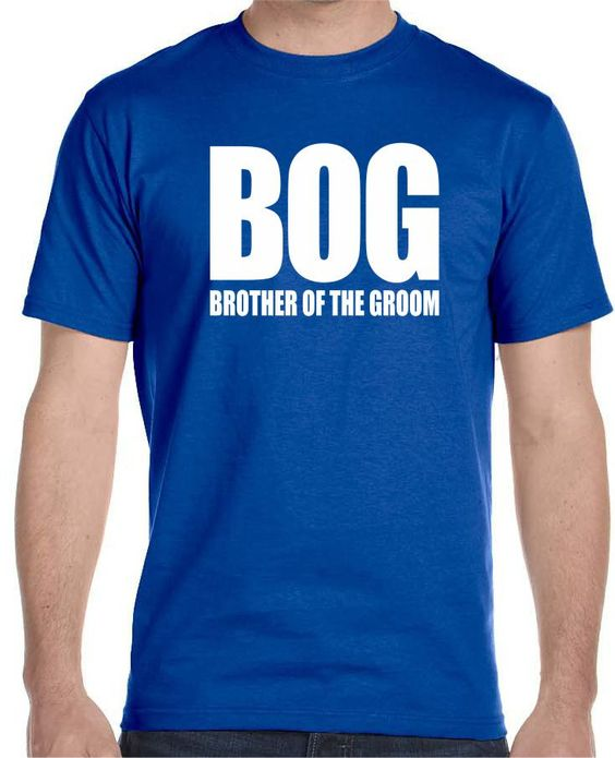 """Now available on our store """"BOG"""" Brother Of ... Check it out here!http://www.tshirtmegastore.com/products/bog-brother-of-the-groom-mens-t-shirt"""