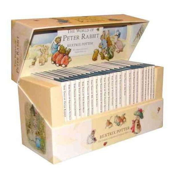 <div>All 23 original Tales by Beatrix Potter are available in a beautifully redesigned presentation box. This luxurious box features the new branded design, spot lamination and full-color original Beatrix Potter art, including a pop-up of Peter Rabbit ...