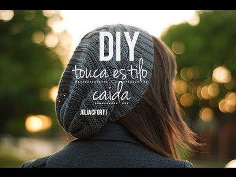 DIY touca estilo caída (faça você mesmo) - YouTube