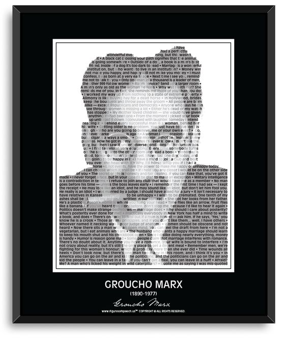 Groucho Marx Wall Poster