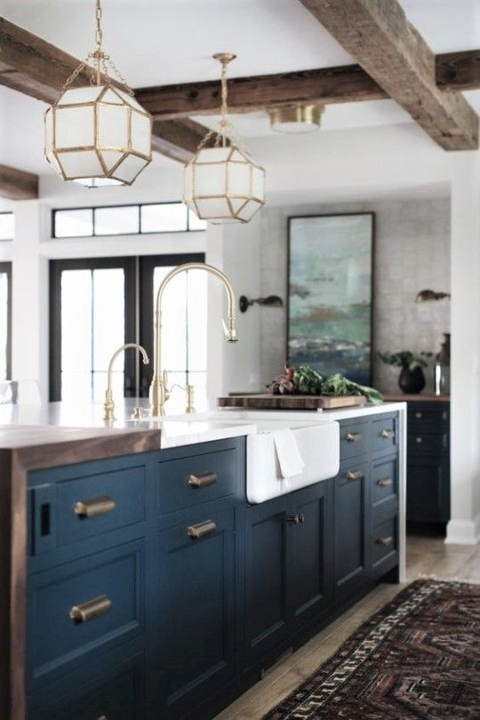 Notice The Wood Waterfall Edge On Left Quartz Countertops On