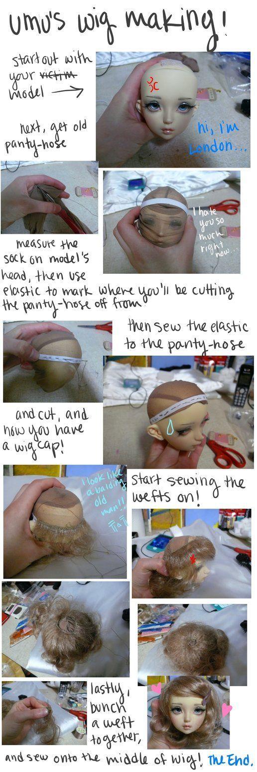 pantyhose base wig tutorial: