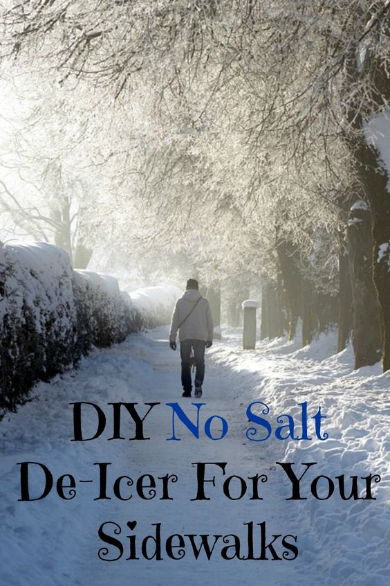 """DIY """"No Salt"""" De-Icer For Your Sidewalks"""