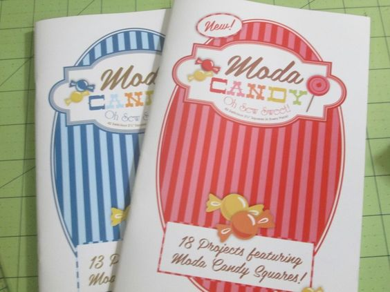 31 Quilting Patterns in 2 Moda Candy books Sewing Patterns for Mini Charm Packs #Moda #quiltpatterns #smallquiltprojects