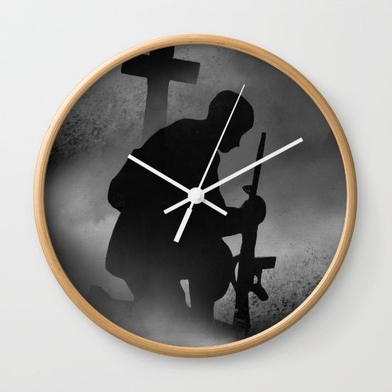 """#FLASH #SALE! #Free #Shipping on #Everything Today! 10% off ALL #HOME #DECOR #Clock #Veterans Available in natural wood, black or white frames, our 10"""" diameter unique Wall Clocks feature a high-impact plexiglass crystal face and a backside hook for easy hanging. Choose black or white hands to match your wall clock frame and art design choice. Clock sits 1.75"""" deep and requires 1 AA battery (not included)."""