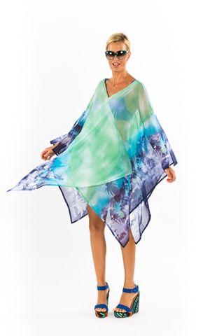 Caftan 2 Turquoise Palm Paradise https://www.facebook.com/NoosaSwimwear