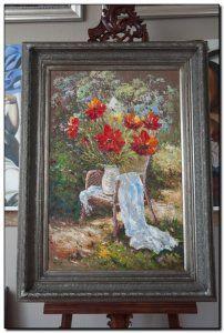 Zomers schilderij Veldbloemen in vaas. http://www.mypainting.nl/detail/2907652-schilderij-veldbloemen-in-vaas