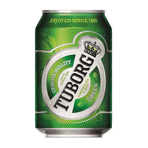 Bia Tuborg 4.9% - Lon 330ml - Bia Đan Mạch Nhập Khẩu TPHCM