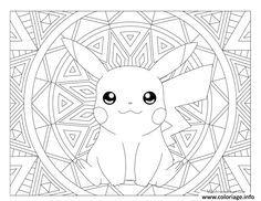 Epingle Sur Coloriage Pikachu