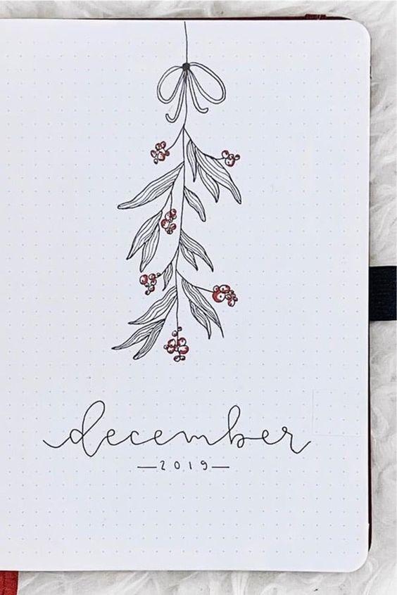 30 idées pour votre monthly cover de décembre - @bujorwithmatilda on instagram