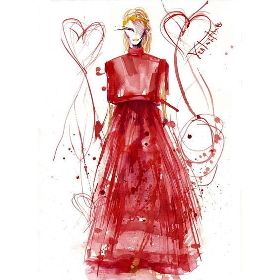 « Fall 2015 Couture @maisonvalentino #fashionblogger #fashiondrawing #fashiondesigner #fashionillustration #fashionsketch #fashiondesign #illustrator… »