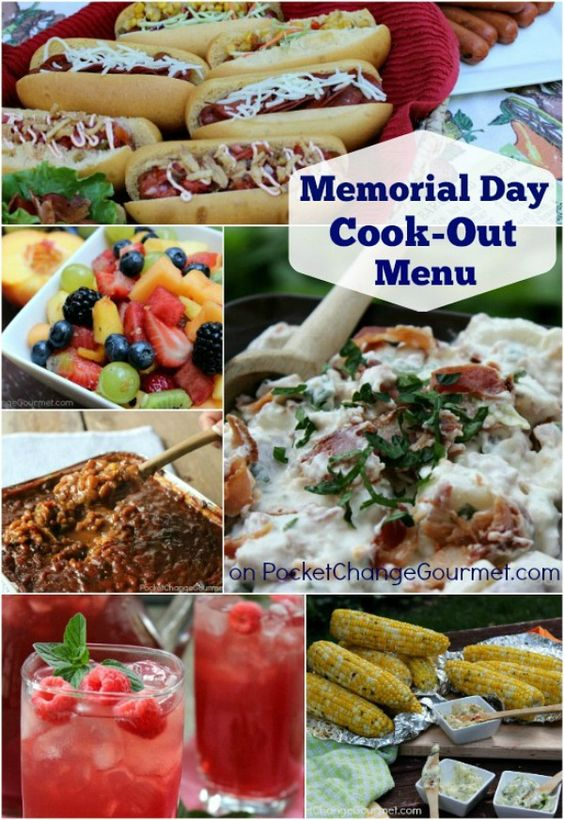 memorial day food menu