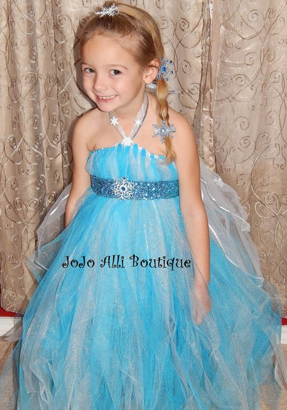 Disney Frozen's Queen Elsa Tutu Dress with by JoJoAlliBoutique, $6.00