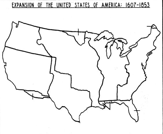 Blank Westward Expansion Map North America Pinterest Social - Us westward expansion map
