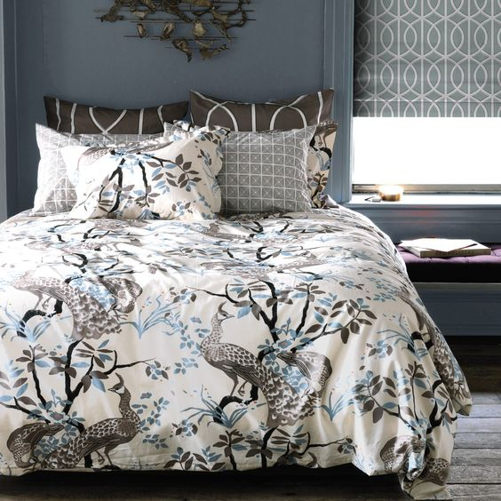 DwellStudio Home Peacock Dove Duvet Cover Set