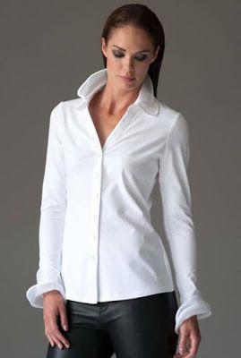 DIY: personalizar una camisa añadiendo cuello de organza. Patrón de cuello
