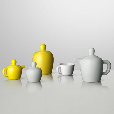'Bulky' tea set, designed by Jonas Wagell for Muuto. www,muuto.com: Teapot Muuto, Tea Pot, Design Objects, Bulky Teapot, Bulky Teaset, Products Furniture Things
