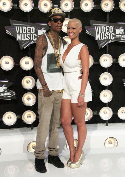 Amber Rose and Wiz Khalifa Photos - Celebrities arrive at the 28th Annual MTV Video Music Awards at the Nokia Theatre L.A. Live in Los Angeles. - MTV Video Music Awards - Arrivals 2