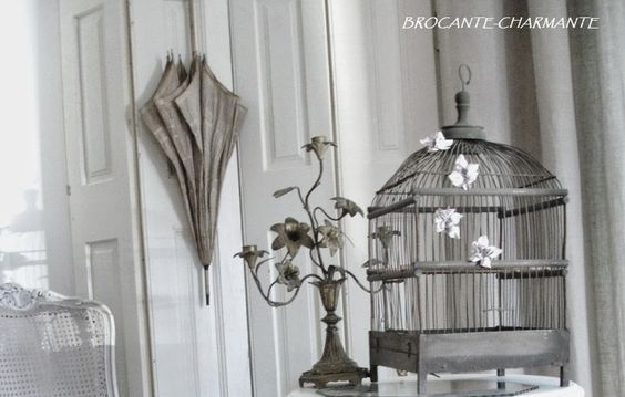 bird cage love - brocante-charmante