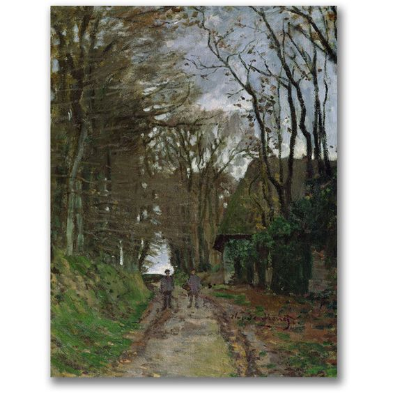 Claude Monet 'Path in Normandy' Canvas Art ($95) ❤ liked on Polyvore featuring home, home decor, wall art, vertical canvas wall art, vertical paintings, outdoor paintings, canvas paintings and canvas wall art