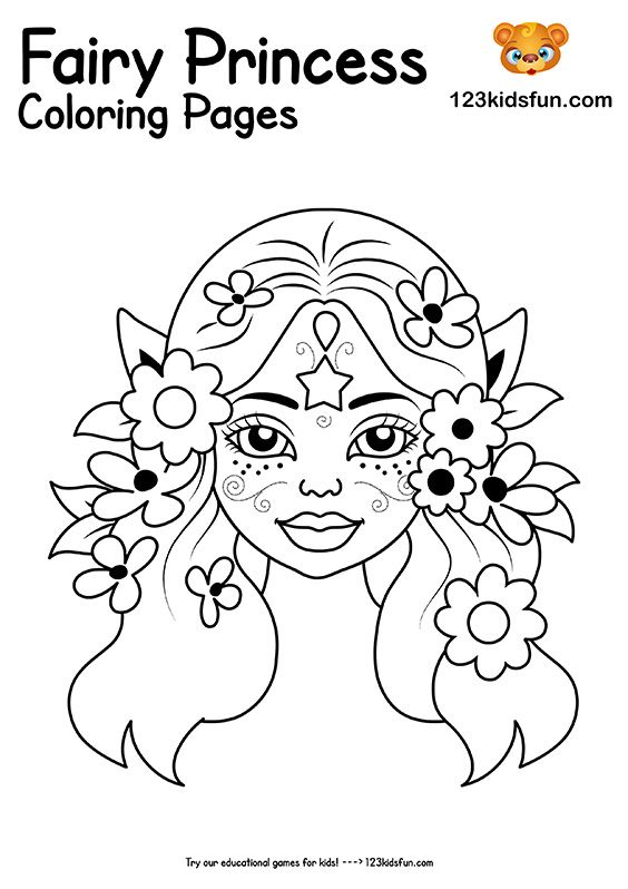 Free Printable Fairy Princess Coloring Pages For Girls 123 Kids Fun Apps In 2020 Princess Coloring Pages Princess Coloring Coloring Pages For Girls