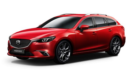"2015 mazda6"" mazda6 Tourer ""mazda6 Tourer quarter view"" mazda6 Tourer red"