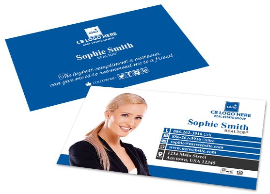 Coldwell Banker Business Cards Coldwell Banker Business Card Printing In 2020 Printing Business Cards Printed Cards Business Cards