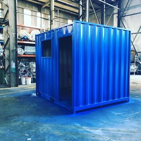 10ft Shipping Container Modification Under Construction In Our Workshop Today With Images Shipping Container Conversions Shipping Container Container Conversions