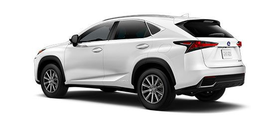 2018 Nx 300h In Eminent White Pearl With 17 In 10 Spoke Alloy Wheels Angle 2 Lexus Luxury Crossovers Lexus Suv