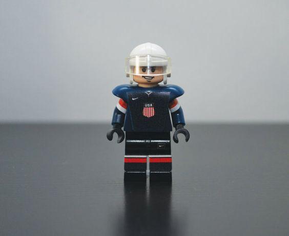 TEAM USA Sochi Olympics 2014 Custom Hockey LEGO Minifigure on Etsy, $28.99