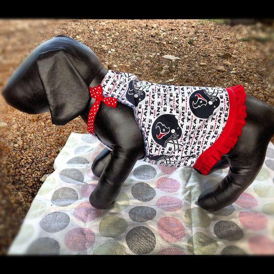 Houston Texans Dog Dress with ribbon. $15.00, via Etsy.