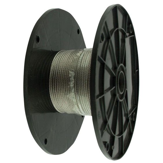 Everbilt 1/8 in. x 125 ft. Stainless Steel Uncoated Wire Rope