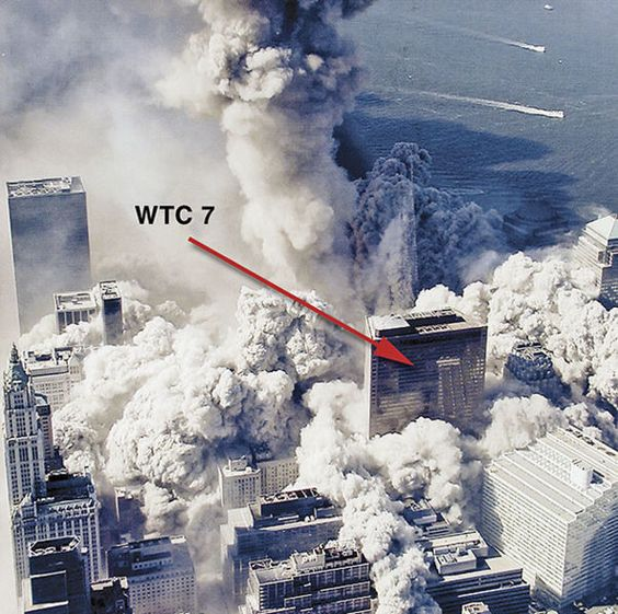 You are witnessing building 7 in free fall on September 11, 2001. A building comes down this way when the main supports of each floor are removed by explosives simultaneously. The twin towers fell the same way. Odd thing is no plane struck building 7. This points to planned DEMOLITION. Only high ranking US officials could have gained access in order to plant bombs. You're being lied to.