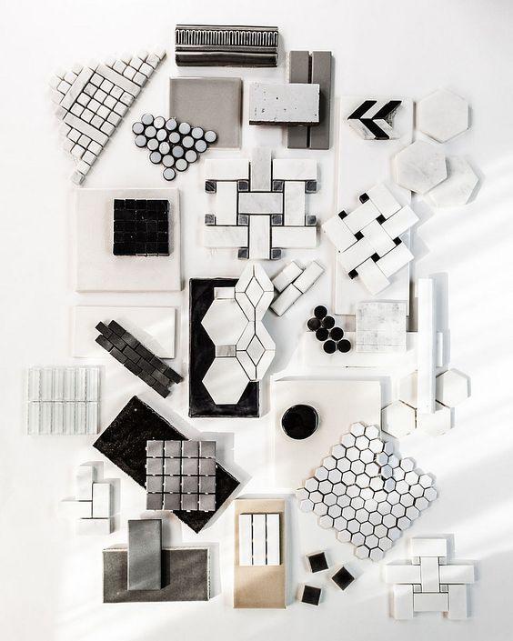Planche tendances carrelages blanc Zach DeSart Photography #moodboard #white…