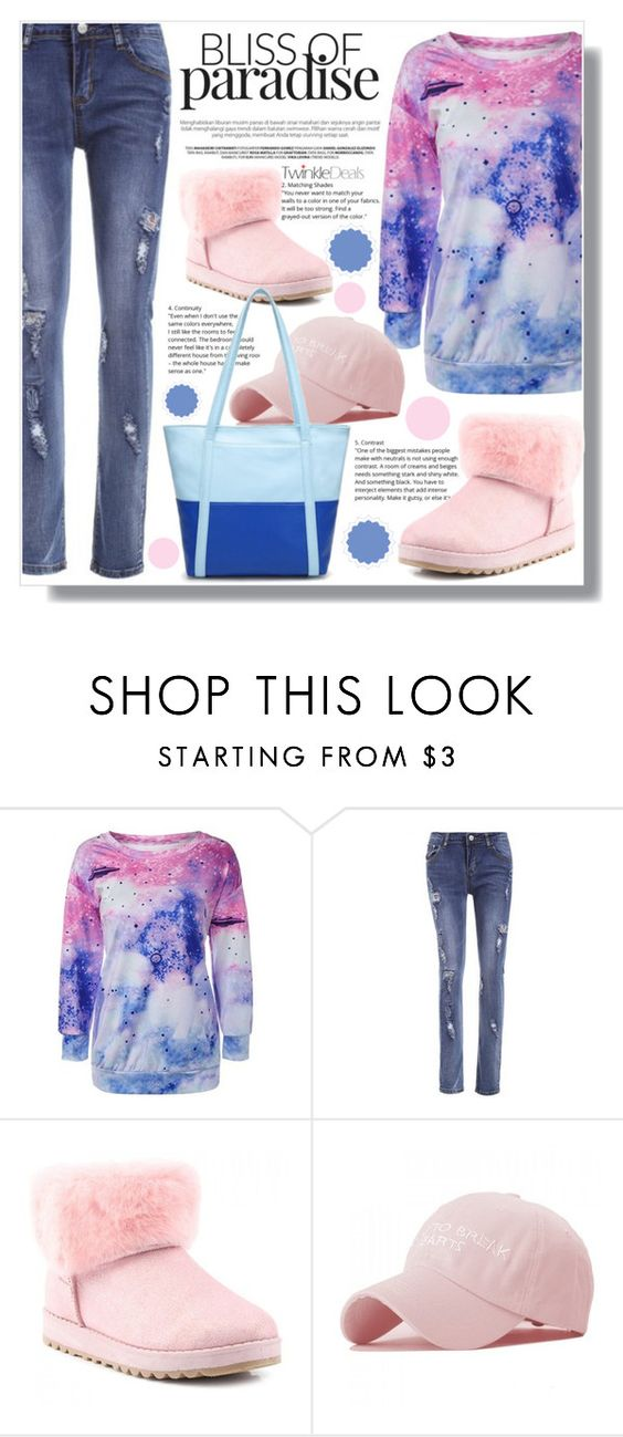 """""""Blue and pink!"""" by clumsy-dreamer ❤ liked on Polyvore"""