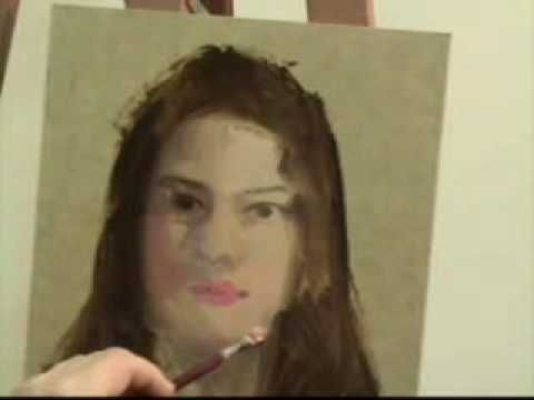 Retrato al óleo Parte 1 - Capel, Oil Portrait Painting Demo , Capel