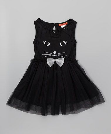 Another great find on #zulily! Black Cat Dress - Toddler & Girls #zulilyfinds