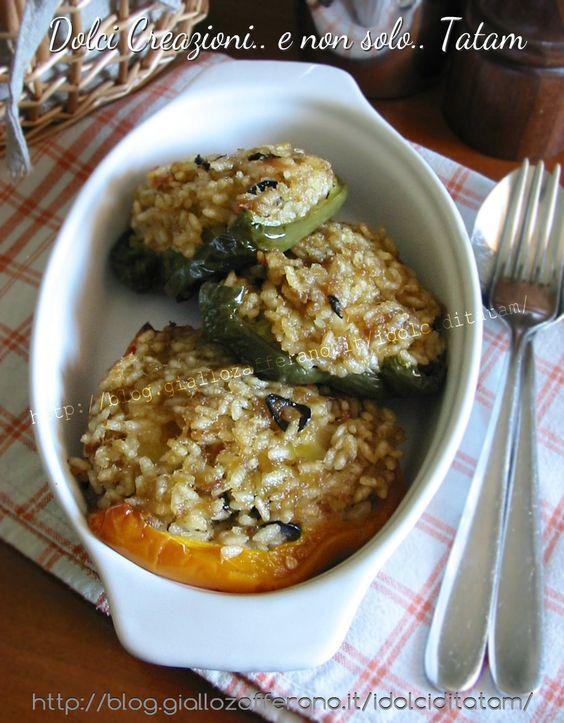 Peperoni ripieni di riso e tonno | ricetta secondo piatto completo