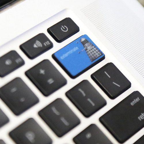 Exterminate Dalek Delete Button Decal For Macbook Pro Air