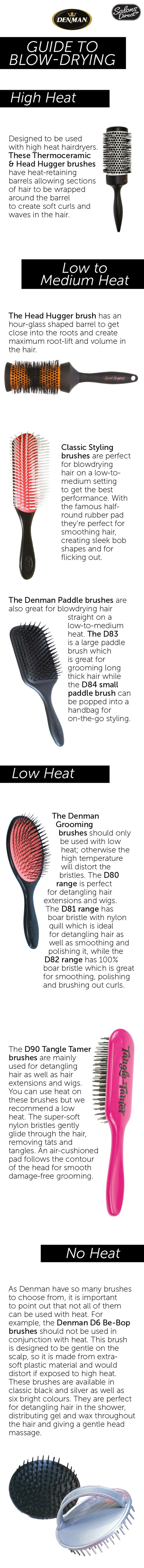 The Denman Guide To Blow Drying Salons Natural Hair Styles Blow Dry