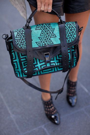 Proenza in Tribal Patterns & Woven Fabric