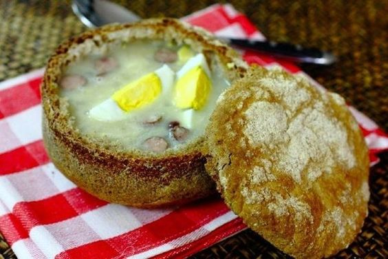 Polish soup with sourdough