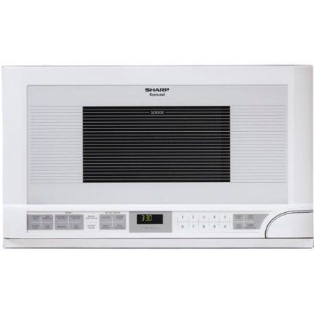 Sharp R1211T 1. 5 Cu Ft.  Over The Counter Microwave - White