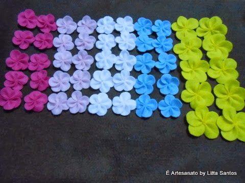 Mini florzinhas by Litta Santos http://littasantos.blogspot.com.br/