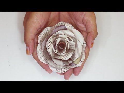 Ide Kreatif Dari Koran Bekas Membuat Bunga Mawar Youtube