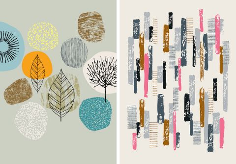 Eloise Renouf is a UK-based stationery and textile designer whose Etsy shop features large limited edition prints of some of her designs. I'm a big fan of her retro / MCM aesthetic, aren't you? If so, be sure to snag a print or two from her shop and check back often – she's always adding new pieces!