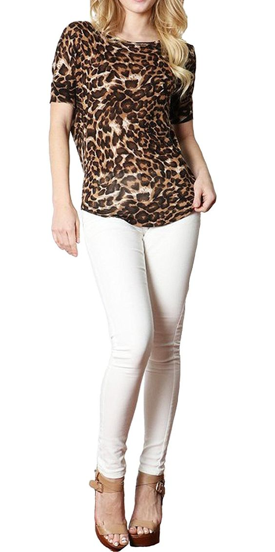 Amazon.com: Simply Savvy Co Soft Stylish Comfort Fit Leopard Animal Print Top: Clothing